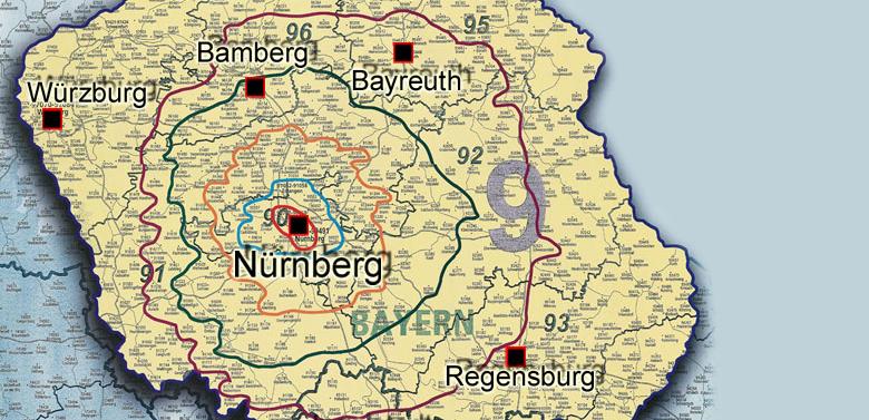 Nahverkehr, Luftfracht, Airfreight, Nürnberg, Abholung, Zustellung, NUE